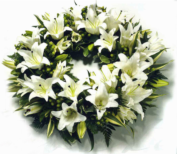 Lily wreath